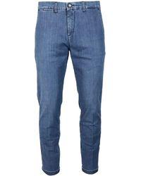 Fay Denim Chino Trousers - Blue