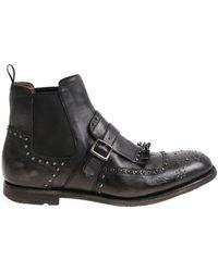 Church's - Shangai Black Vintage Effect Chelsea Boots - Lyst