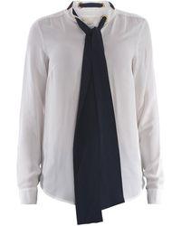 Michael Kors Self-tie Silk Shirt - White
