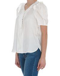 Zadig & Voltaire V-neckline White Blouse
