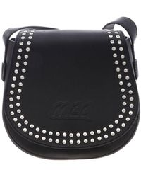 McQ Black Studded Leather Bag