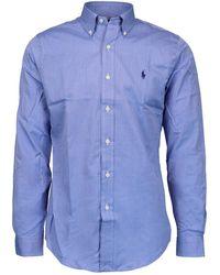 Polo Ralph Lauren Light Blue Cotton Shirt