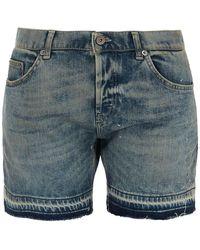Dondup - Shorts in denim slavato - Lyst