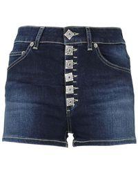 Dondup Klum Jewel Denim Shorts - Blue