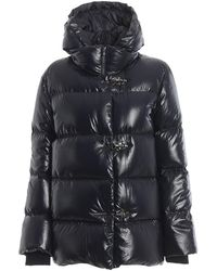 Fay Water Repellent Puffer Jacket - Blue