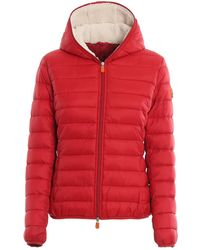 Save The Duck - Red Nylon Padded Jacket With Soft Lining - Lyst