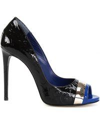 John Richmond Pat Bluette Court Shoes In Patent Leather - Black