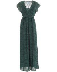 M Missoni - Lame Pattern Dress In Green - Lyst