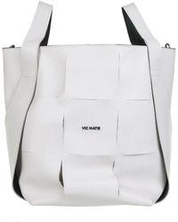 Vic Matié Nadege Bucket Bag In White