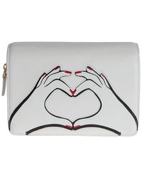 Lulu Guinness Printed Leather Bag - White