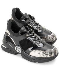 Baldinini Sneakers con dettagli pitonati - Nero