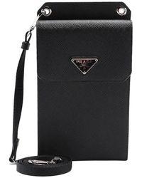 Prada Saffiano Leather Smartphone Case - Black