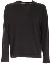 Z Zegna - Raglan Sleeves Pullover In Anthracite Color - Lyst