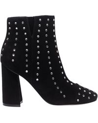 Kendall + Kylie Tiaa Embellished Suede Ankle Boots - Black