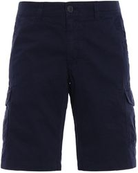 Woolrich Cargo Cotton Shorts - Blue