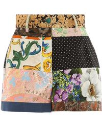 Dolce & Gabbana Patchwork Shorts - Multicolor