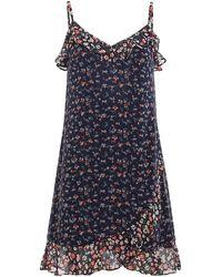 Michael Kors Georgette Floral Slip Dress - Blue