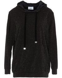 Dondup Lurex Effect Fabric Sweatshirt - Black