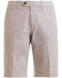 Corneliani Beige Stretch Cotton Shorts - Natural