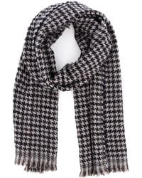 Fay Houndstooth Wool Scarf - Multicolour