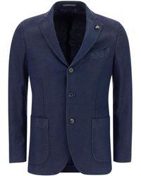 Gabriele Pasini Linen-cotton Blend Blazer - Blue