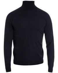 Drumohr Merino Wool Turtleneck - Blue