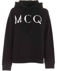 McQ Logo Embroidery Sweatshirt In Black
