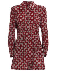 Michael Kors Silk Short Jumpsuit - Red