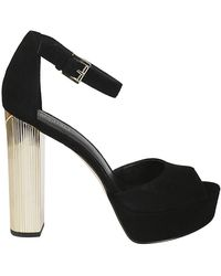 Michael Kors Paloma Black Suede Sandals