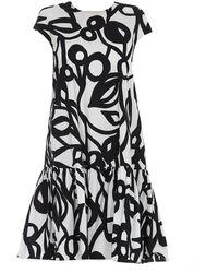 Aspesi Patterned Cotton Dress - Black