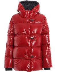 Fay Water Repellent Puffer Jacket - Red