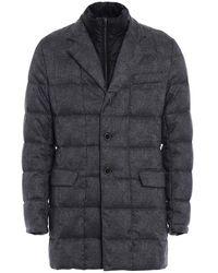 Fay Light Padded Grey Short Coat