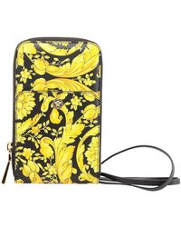 Versace Jeans Couture Hammered Leather Bag - Yellow