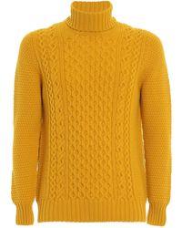 Drumohr Cable-knit Turtleneck Jumper - Yellow