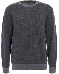 Michael Kors Houndstooth Merino Wool Sweater - Gray