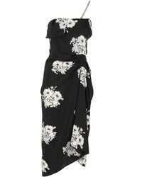 N°21 Floral Sleeveless Dress - Black