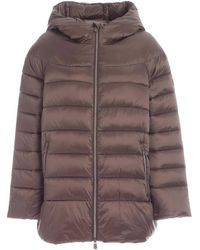 Save The Duck Quilted Padded Jacket - Brown