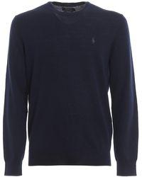 Polo Ralph Lauren Merino Wool Crew Neck Jumper - Blue