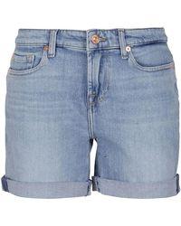 7 For All Mankind Boy Shorts - Blue