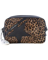 Golden Goose Deluxe Brand Star Leo Calf Hair And Leather Bag - Black
