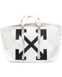Off-White c/o Virgil Abloh Canvas Commercial Tote Bag Off White/black