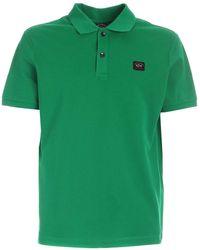 Paul & Shark - Polo verde con dettaglio logo - Lyst