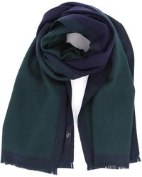 Fay Green And Blue Wool Scarf