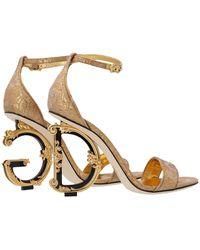 Dolce & Gabbana Keira Sandal - Metallic