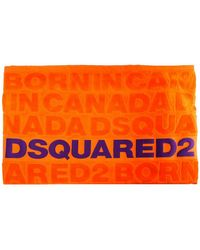 DSquared² Asciugamano da mare logato - Arancione