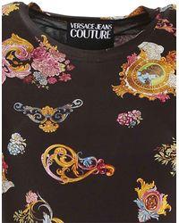 Versace Jeans Couture Abito Midi Nero Stampa Versailles