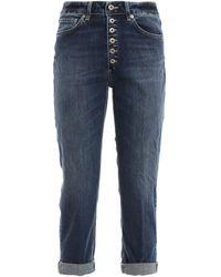Dondup Jeans Koons corti taglio ampio - Blu