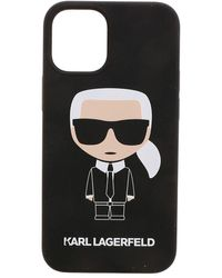 Karl Lagerfeld K Ikonic Iphone 12mini Cover In Black