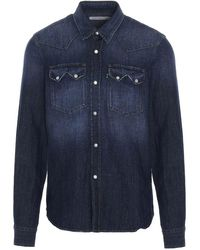 Department 5 - Men's Us5012df0002812 Blue Other Materials Shirt - Lyst