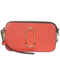 Marc Jacobs The Logo Strap Snapshot Cross Body Bag - Orange